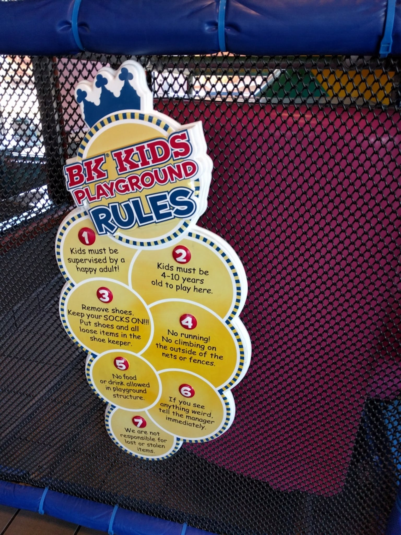 This burger king has an indoor playground, but they also